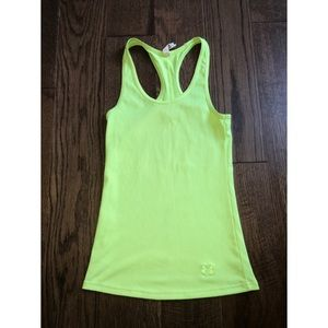 Under Armour vibrant yellow work out tank